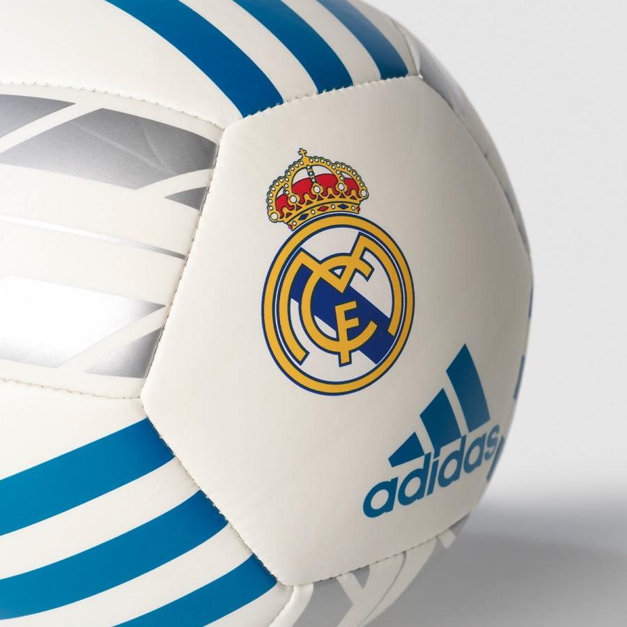 5ff551ddd4d6e Balón adidas Mini Real Madrid 2017-2018 White-Vivid teal - Tienda de fútbol  Fútbol Emotion