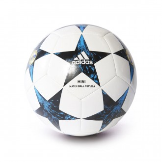 Bola de Futebol  adidas Mini Finale 17 Real Madrid 2017-2018 White-Black-Vivid teal