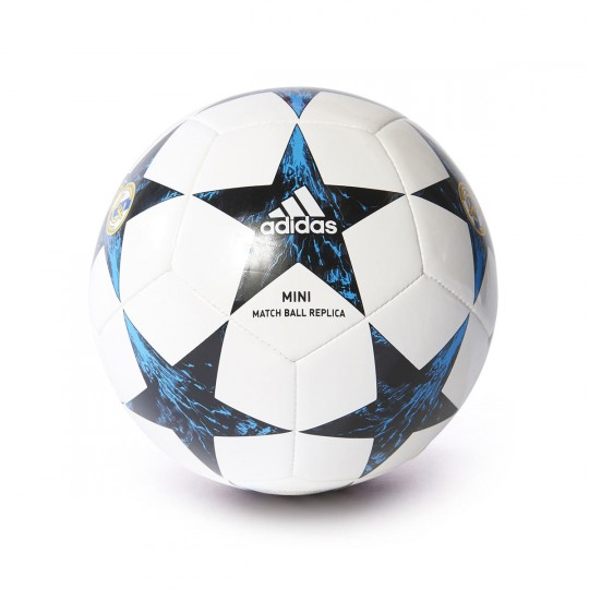 Bola de Futebol  adidas Mini Finale 17 Real Madrid 2017-2018 White-Black-Vivid teal