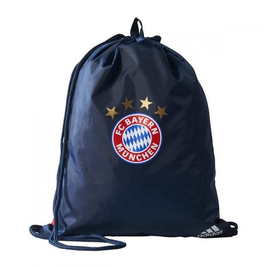 Mochila  adidas Gymbag FC Bayern Munich 2017-2018 Collegiate navy-True red