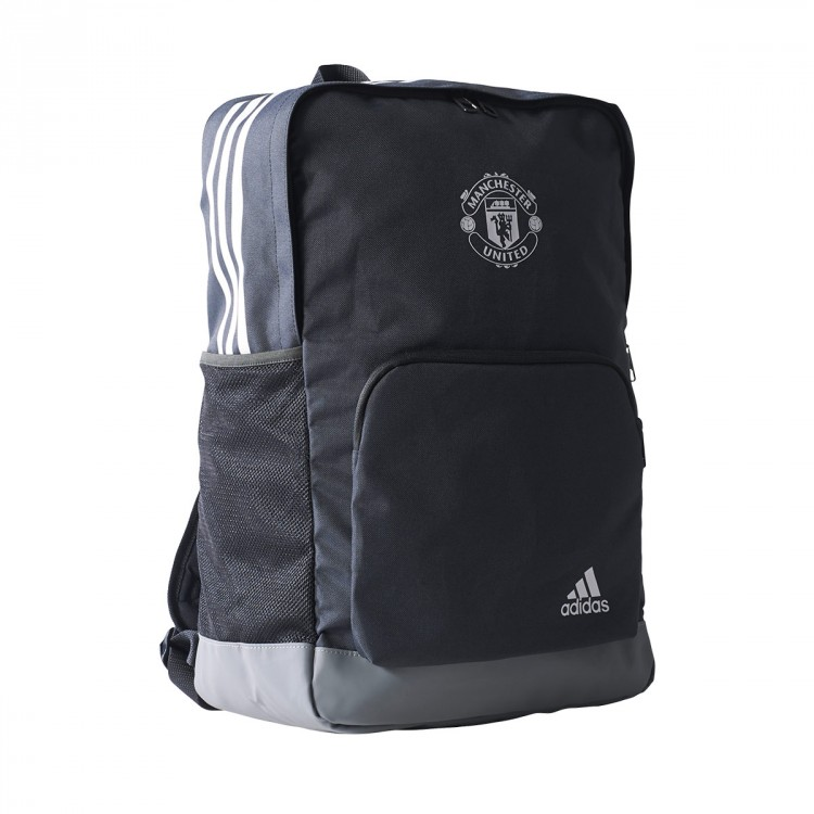 Backpack adidas Manchester United FC 2017-2018 Night grey-Grey-White ... e68d1fa882ef8