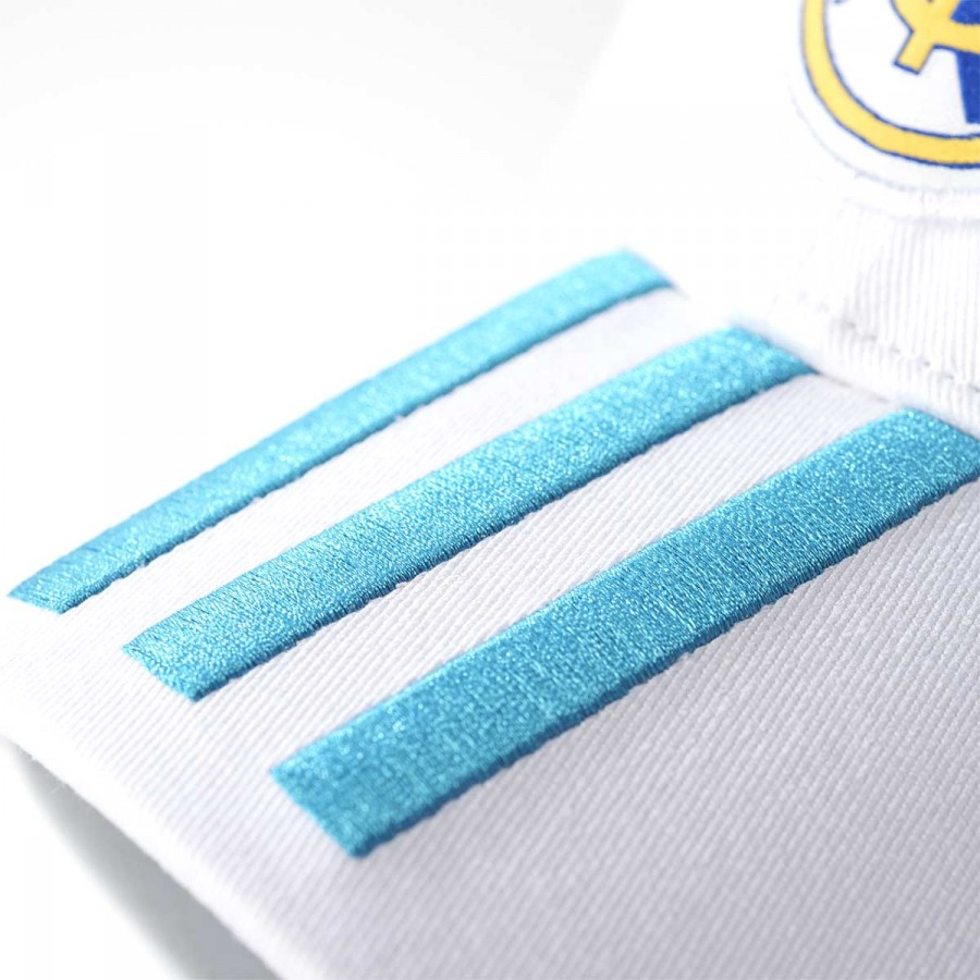 993bf6b7 Cap adidas Real Madrid 3S 2017-2018 White-Vivid teal - Tienda de fútbol  Fútbol Emotion