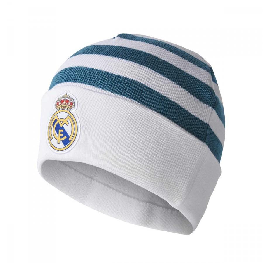 8244899cd81f35 Beanie adidas Real Madrid 3S 2017-2018 White-Vivid teal - Football ...