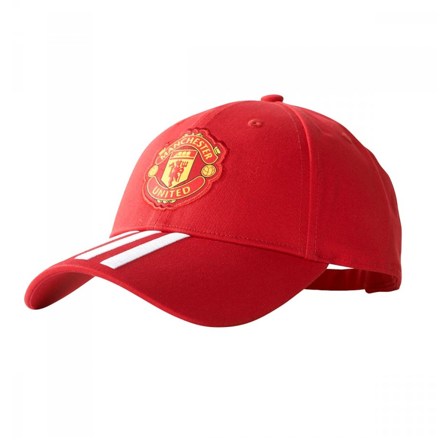 Cap adidas Manchester United FC 3S 2017-2018 Real red-White ... 9e9a57131ab9