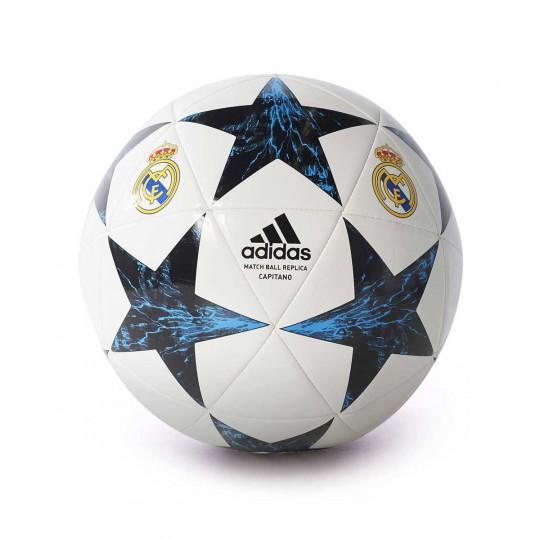 Balón  adidas Finale 17 Real Madrid 2017-2018 White-Black-Vivid teal