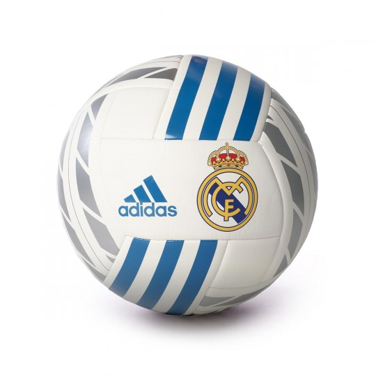Balón  adidas Real Madrid FBL 2017-2018 White-Vivid teal-Silver metallic