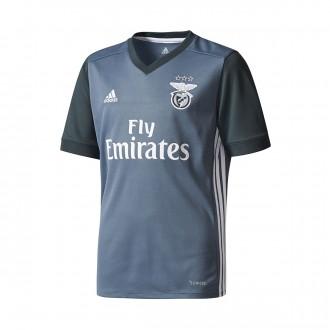 Camiseta  adidas SL Benfica Segunda Equipación 2017-2018 Niño Onix-Dark grey