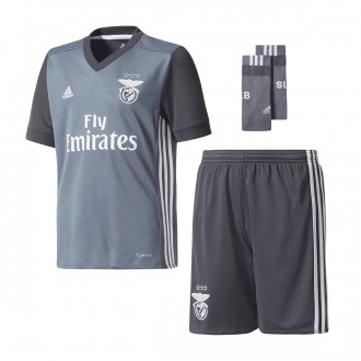Conjunto  adidas Jr SL Benfica Alternativo 2017-2018 Onix-Dark grey