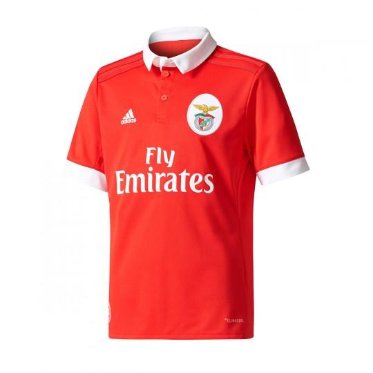 Camisola  adidas Jr SL Benfica Principal 2017-2018 Benfica red-White