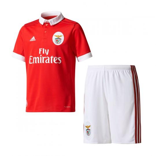 Conjunto  adidas Jr SL Benfica Principal 2017-2018 Benfica red-White