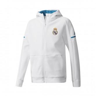 Chaqueta  adidas Real Madrid Squad 2017-2018 Niño White