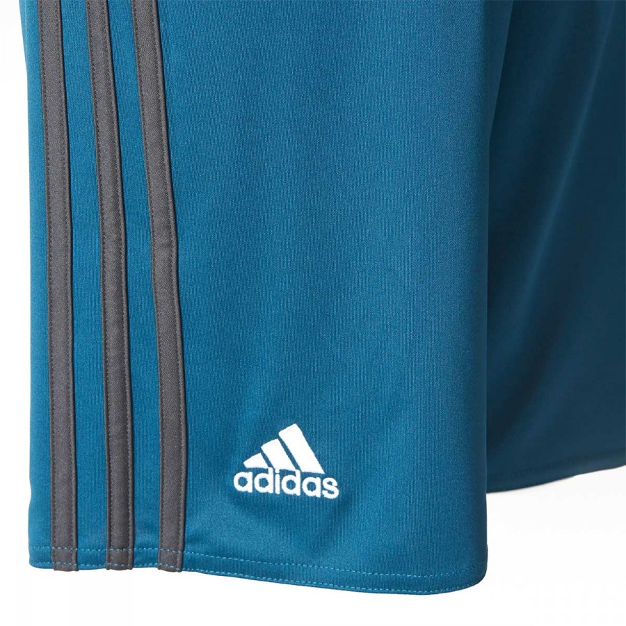 1d51a93db56c5 Short adidas Real Madrid Tercera Equipación 2017-2018 Niño Petrol night-Solid  grey-White - Tienda de fútbol Fútbol Emotion