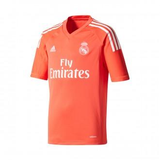 Camiseta  adidas Real Madrid Segunda Equipación Portero 2017-2018 Niño Bright red-White