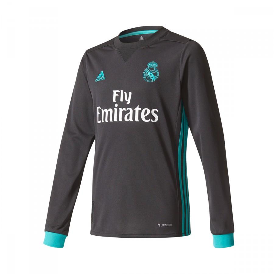 b0776e23a2 Camisola adidas Real Madrid Alternativo m/l 2017-2018 Crianças Black-Aero  reef - Loja de futebol Fútbol Emotion