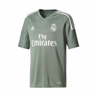 Maglia  adidas Jr Real Madrid Home 2017-2018 Portiere Trace green-White