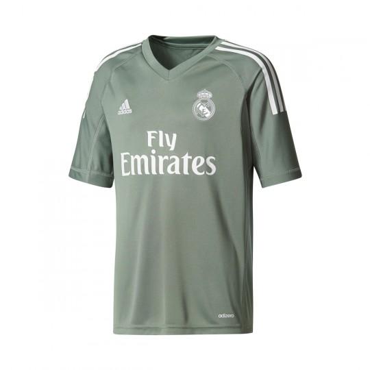 Camiseta  adidas Real Madrid Primera Equipación 2017-2018 Portero Niño Trace green-White