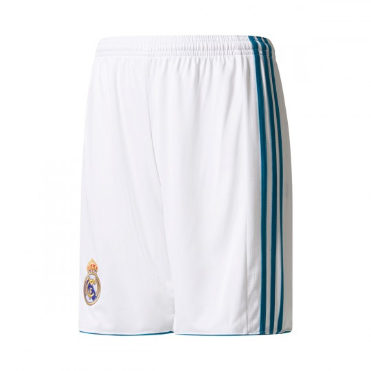 Calções  adidas Jr Real Madrid Principal 2017-2018 White-Vivid teal
