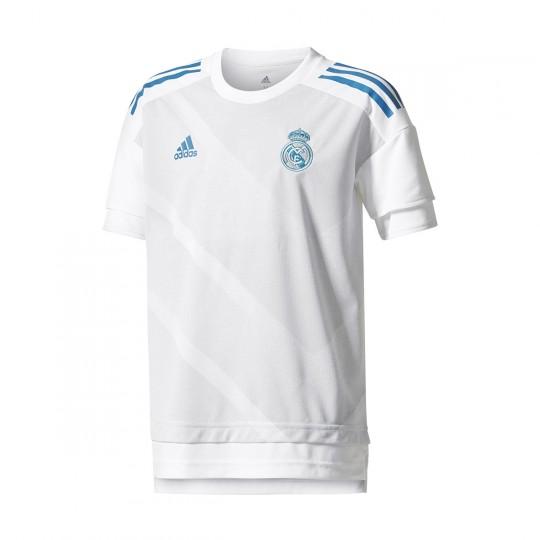 Camiseta  adidas Real Madrid Training Primera Equipación 2017-2018 Niño White-Halo blue