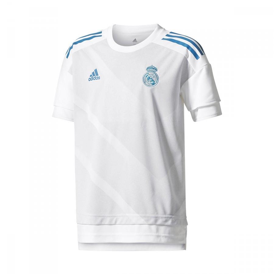 0024c4c4eac4e Jersey adidas Kids Real Madrid Long Home Kit 2017-2018 White-Halo ...