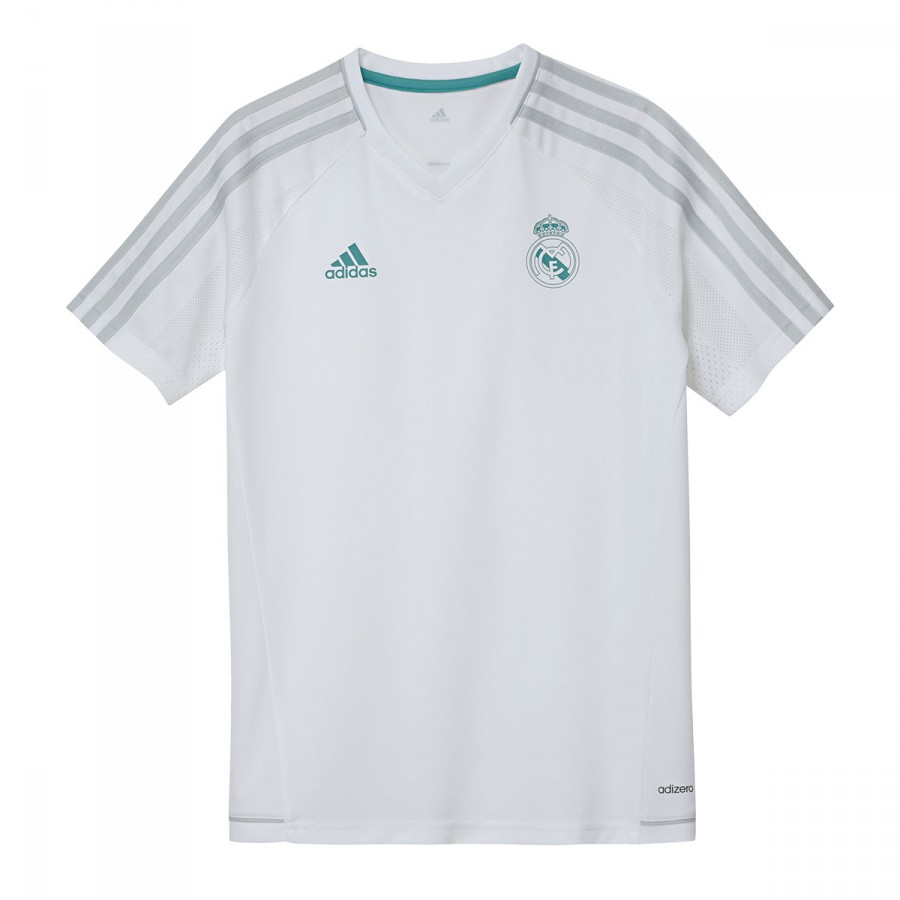 7fe6f36653ca3 Camiseta adidas Real Madrid Training 2017-2018 Niño White - Tienda de  fútbol Fútbol Emotion