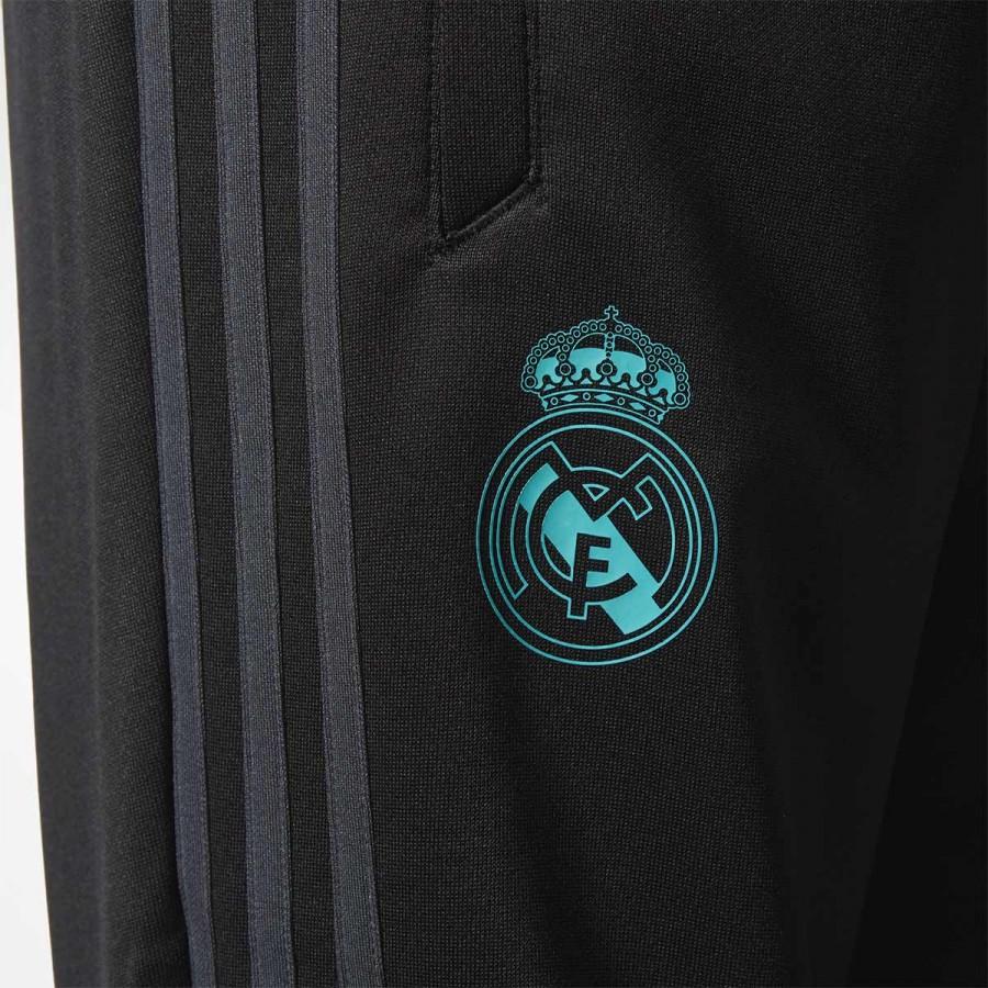 Pantalón largo adidas Real Madrid Training 2017-2018 Niño Black-Solid grey  - Soloporteros es ahora Fútbol Emotion ee31931e22daf