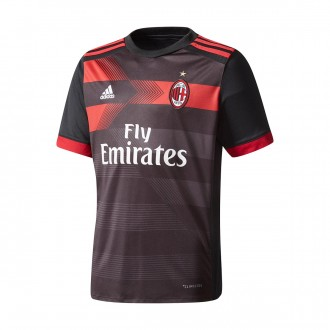 Camisola  adidas Jr AC Milan 3ª 2017-2018 Black-Victory red