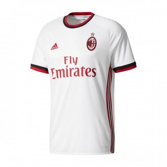 Camisola  adidas Jr AC Milan Alternativo 2017-2018 White-Victory red