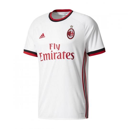 Camiseta  adidas AC Milan Segunda Equipación 2017-2018 Niño White-Victory red