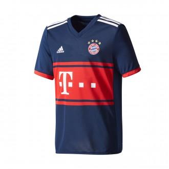 Camisola  adidas Jr FC Bayern Munich Alternativo 2017-2018 Collegiate navy-True red