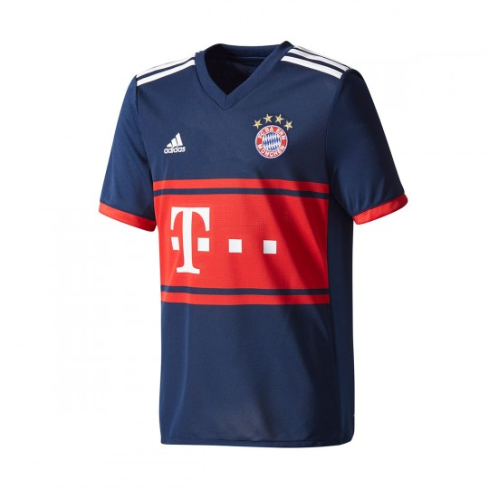 Camiseta  adidas FC Bayern Munich Segunda Equipación 2017-2018 Niño Collegiate navy-True red