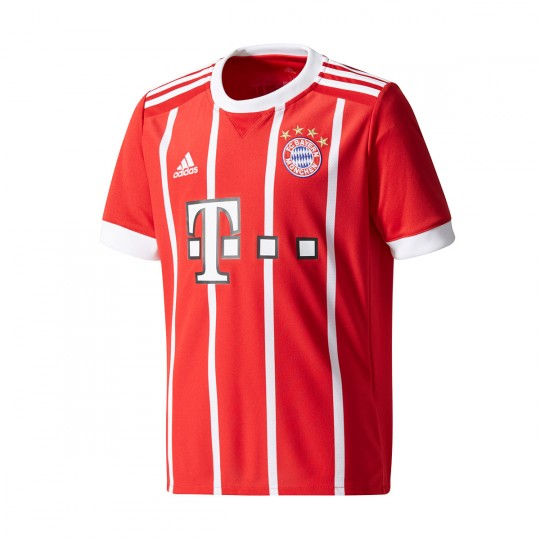 Camiseta  adidas FC Bayern Munich Primera Equipación 2017-2018 Niño True red-White