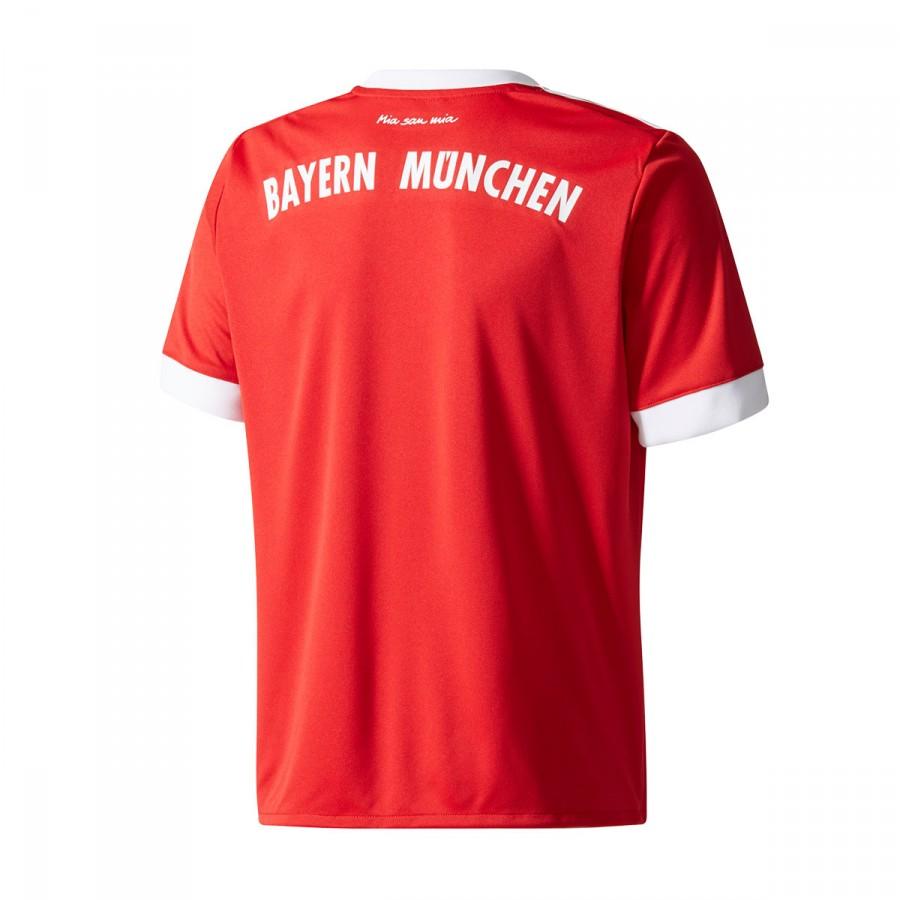 f387d53fd1110 Camiseta adidas FC Bayern Munich Primera Equipación 2017-2018 Niño True  red-White - Tienda de fútbol Fútbol Emotion