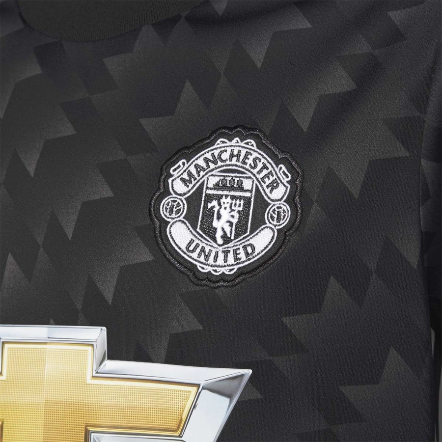 b081a2b64 Jersey adidas Manchester United FC Away 2017-2018 Kids Black-White-Granite  - Tienda de fútbol Fútbol Emotion