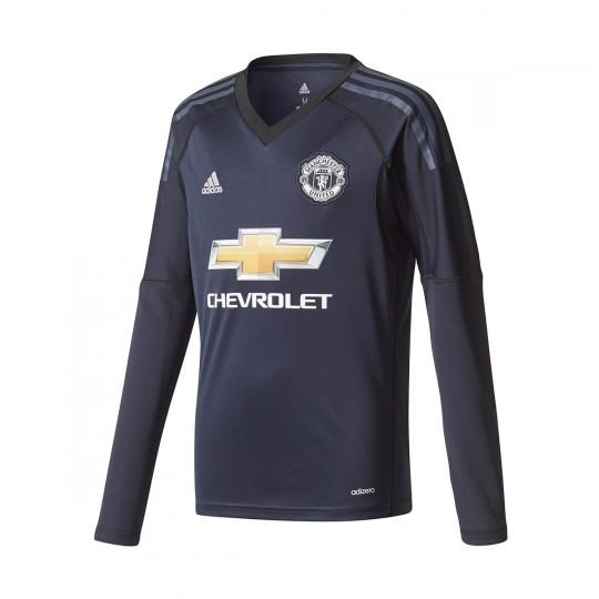 Camiseta  adidas Manchester United FC Primera Equipación 2017-2018 Portero Niño Legend ink-Trace blue