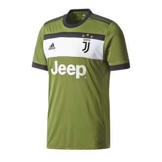 Camisola  adidas Jr Juventus 3ª 2017-2018 Craft green-Black