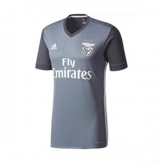 Camisola  adidas SL Benfica Alternativo 2017-2018 Onix-Dark grey