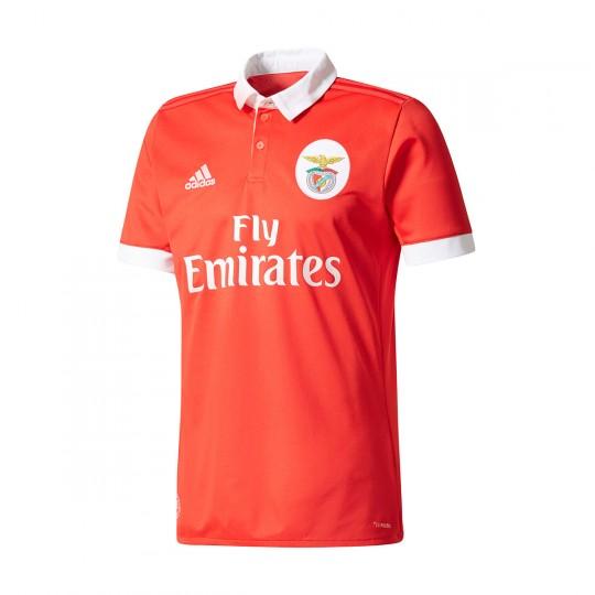 Camisola  adidas SL Benfica Principal 2017-2018 Benfica red-White