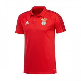Pólo  adidas SL Benfica 2017-2018 Benfica red-White