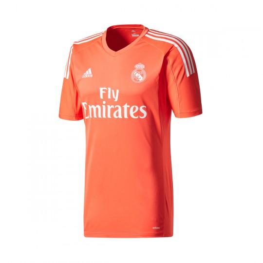 8b63da8527dbd Camisola adidas Real Madrid Alternativo 2017-2018 Guarda-Redes Bright  red-White - Loja de futebol Fútbol Emotion