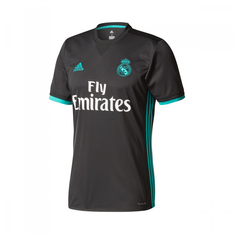 b2a9b17af Jersey adidas Real Madrid Away LFP 2017-2018 Black-Aero reef ...