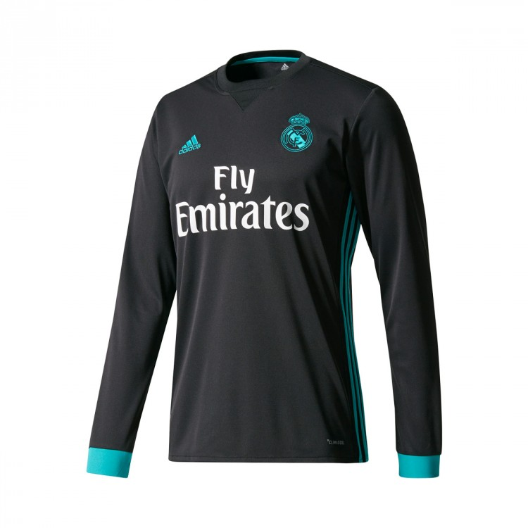 f121f0ca87 Jersey adidas Real Madrid Away m l 2017-2018 Black-Aero reef ...