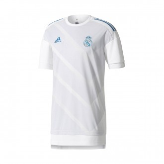 Jersey  adidas Real Madrid Training Home Kit 2017-2018 White-Halo blue