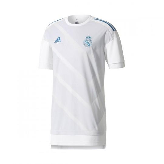 Camiseta  adidas Real Madrid Training Primera Equipación 2017-2018 White-Halo blue