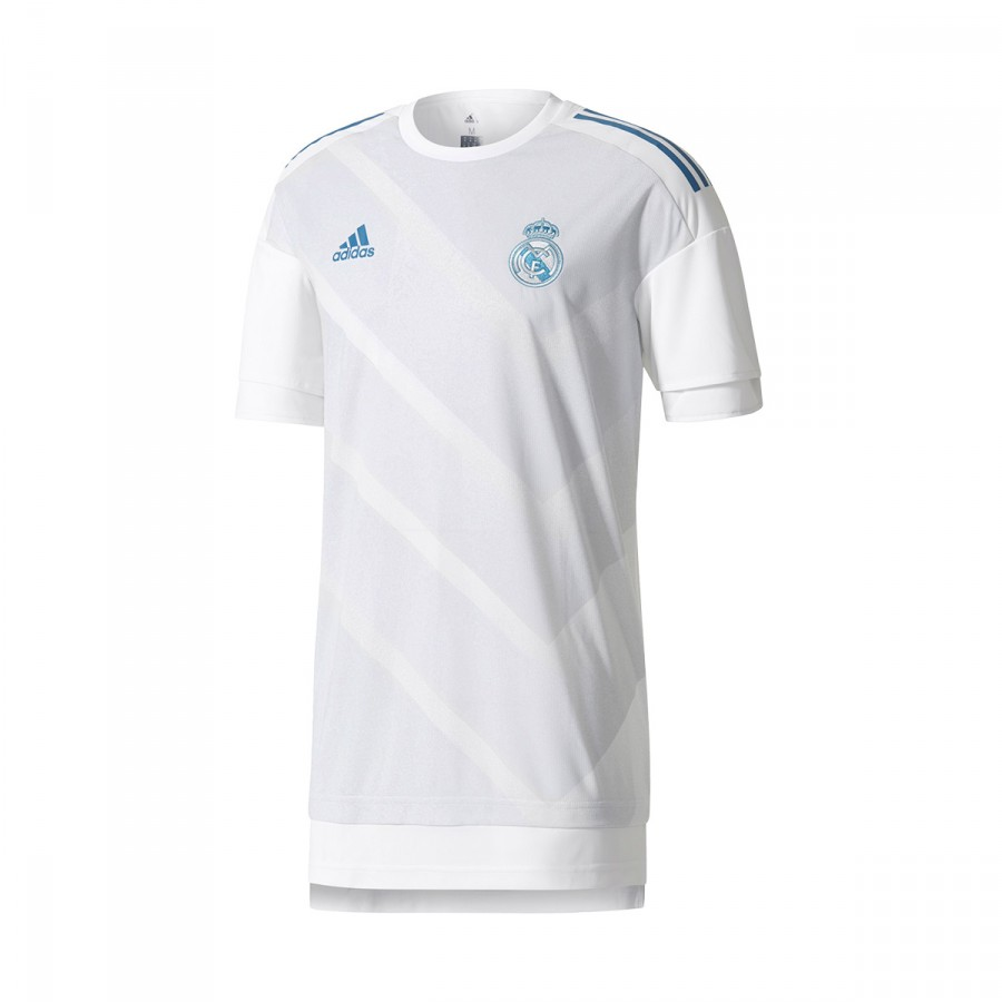 new styles f5f4f 5b2a3 Camiseta Real Madrid Training Primera Equipación 2017-2018 White-Halo blue