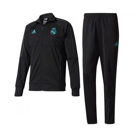 Chándal  adidas Real Madrid 2017-2018 Black-Solid grey