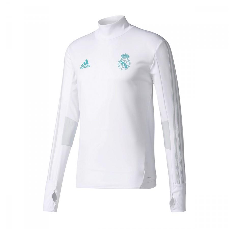 ec8aa5594596c Sweatshirt adidas Real Madrid Training Top 2017-2018 White-Clear grey -  Football store Fútbol Emotion