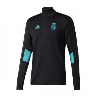 Sweatshirt  adidas Real Madrid Training Top 2017-2018 Black-Aero reef