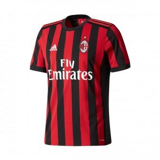 Camisola  adidas AC Milán Principal 2017-2018 Victory red-Black