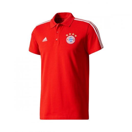 Polo  adidas FC Bayern Munich 3S 2017-2018 True red-White