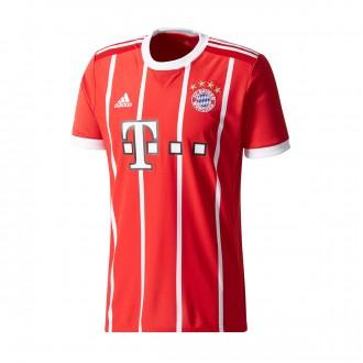 Camiseta  adidas FC Bayern Munich Primera Equipación 2017-2018 True red-White